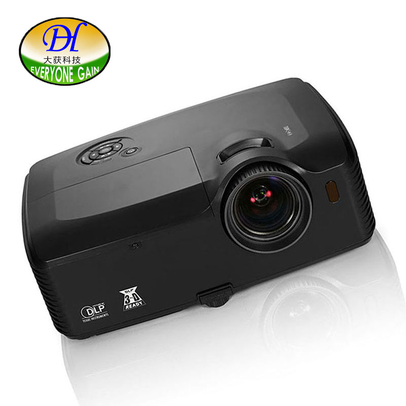 все цены на Everyone Gai 3D DLP 6000lumen Outdoor Projector Full HD 1080P Video Proyector support 1920*1200 LED Ceiling Projetor DH-8001 онлайн