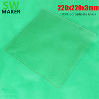 SWMAKER 100 Borosilicate Glass Bed 220x220x3mm For Heated Bed MK2 MK3 Smartrap 3D Printer Parts