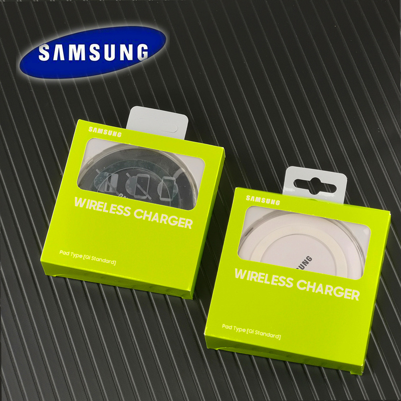 samsung Qi smart wireless charger Original 5v2a universal wireless adapter for galaxy S7 edge S8 S9 S10 Note 4 5 7 8 9 10 X Xs-in Mobile Phone Chargers from Cellphones & Telecommunications