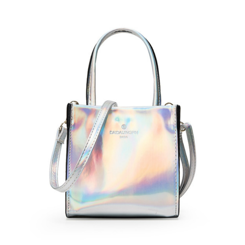 New Hologram Laser Handbag Women Fashion PU Leather Mini Handbag Casual Laser Ho