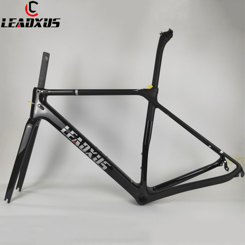 LEADXUS LAM200 Super Light Carbon Frame T800 Carbon Fiber Road Bicycle Frame Glossy & Matte Carbon Bike Frame Size XS,S,M,L