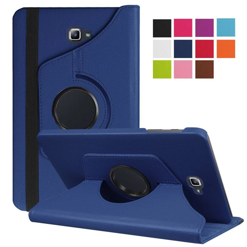 360 Rotating Case For Samsung Galaxy Tab A 10.1 2016 T580 T585 Stand Holder PU Leather Cover For Samsung Tab A6 10.1 T580N T580N