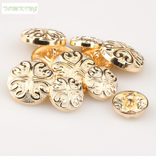 10pcs/lot New fashion 18mm/23mm metal button sewing buttons decorative for garment accessories DIY
