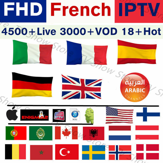 US $19 55 15% OFF|SKY Europe IPTV Subscription Arabic Europe French Spain  Belgium Poland IPTV XXX Live TV M3u For Smart TV Android 3500+ Channels-in