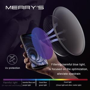 Image 2 - MERRYS Anti Blue Light Series 1.56 1.61 1.67 Prescription CR 39 Resin Aspheric Glasses Lenses Myopia Hyperopia Presbyopia Lens