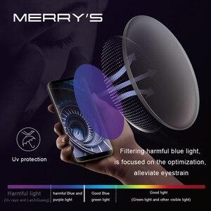 Image 2 - MERRYS Anti mavi işık serisi 1.56 1.61 1.67 reçete CR 39 reçine asferik gözlük lensler miyopi hipermetrop presbiyopi Lens