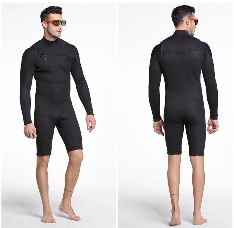 e5c6af6c9e48 € 52.17 |Sbart hombres 3mm manga corta traje de neopreno apnea lanza pesca  azul buceo traje de baño pantalones de una pieza surf traje de neopreno ...