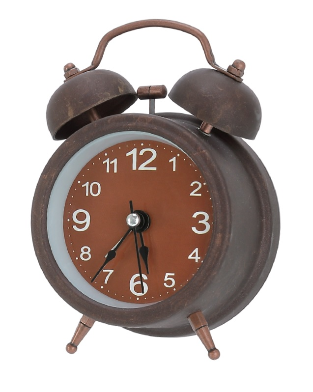 2018 New Copper Vintage Table Alarm Clock Quartz Reloj Despertador De Cabeceira