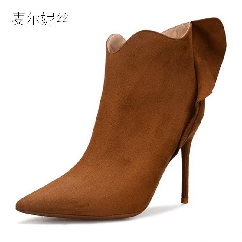 997c1c613a68b gray Petite Pour Taille Glissière Bottes Talon Mode 2018 wine 32 10cm Noir  Red Wine 8cm black Chaussures 8cm Cheville 10cm Plus Haute Rouge Femme ...