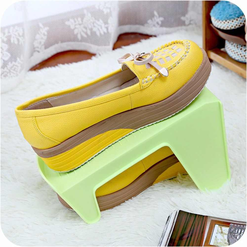 Fashion Shoe Racks Modern Double Cleaning Storage Shoes Rack Living Room Shoebox Shoes Organizer Stand Shelf Dropshipping #2