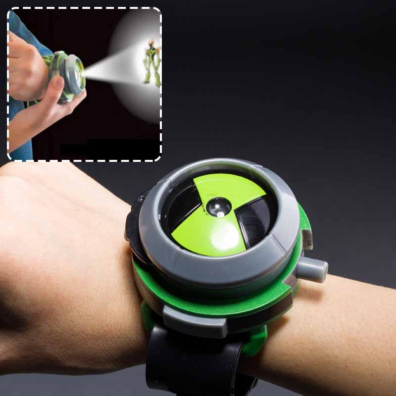 Popular in Europe and America Fashion Children Bandai Ben10 Projector Watch Cartoon Watches Toy Ben 10 Projector Gifts Kids
