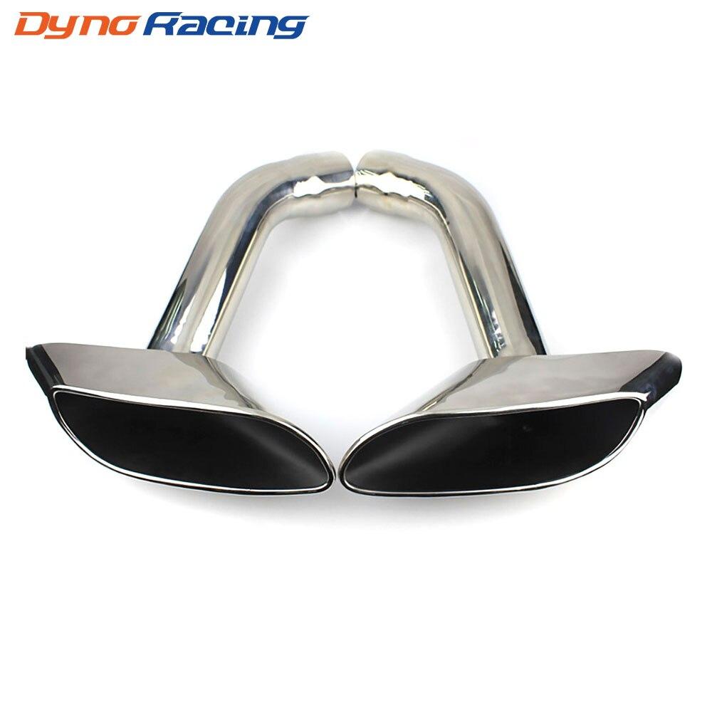 Embout de silencieux de queue d'échappement de voiture modifié de 2 pièces/ensemble 304 tuyaux de gorge de queue d'acier inoxydable tuyaux d'extrémité pour BMW E71 X6 YC101183