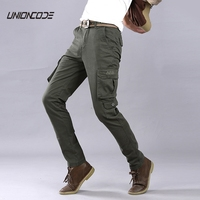 High Quality Cargo Pants Men Stretch Twill Slim Legs Washed Cotton Military Joggers 2017 Casual Elasticized
