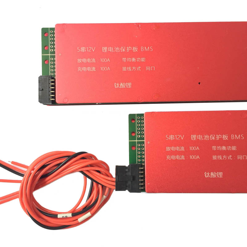 LTO Battery BMS 15S 36V 80A 100A 200A Lithium Titanate Battery Circuit Protection Board BMS PCM for LTO Battery Pack Same Port lto battery bms 5s 12v 80a 100a 200a lithium titanate battery circuit protection board bms pcm for lto battery pack same port