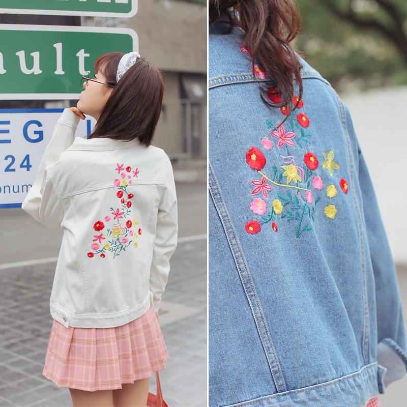 Alta calidad Denim chaqueta jacket mujeres Jean Chaquetas