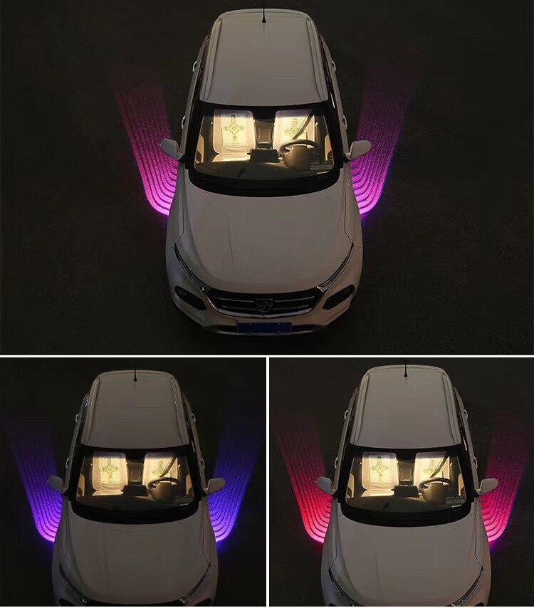 Qirun led Greeting Atmosphere Decorative Daylights Brake Fog lamp Reverse Headlight Turn signal for Jeep Patriot Renegade TJ