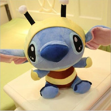 "Lilo and Stitch 1pcs 4"" 10cm Bee Stitch cosplay TV Stuffed Soft Plush Toys Cartoon Toy For Kids Baby Boys Girls"