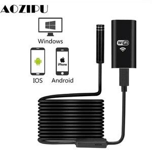 Image 1 - WIFI Endoscope Camera Mini IP67 Waterproof Soft Cable Inspection Camera 8mm USB Endoscope Borescope IOS Endoscope For iPhone