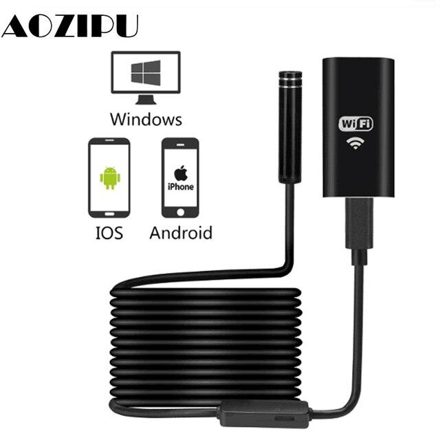 WIFI endoskop kamera Mini IP67 wodoodporny miękki kabel kamera inspekcyjna 8mm endoskop USB boroskop IOS endoskop dla iPhone
