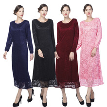 New Turkish Women Muslim Plus size Abaya Dress Dubai Full Lace Jilbabs And Abayas Dresses Islamic