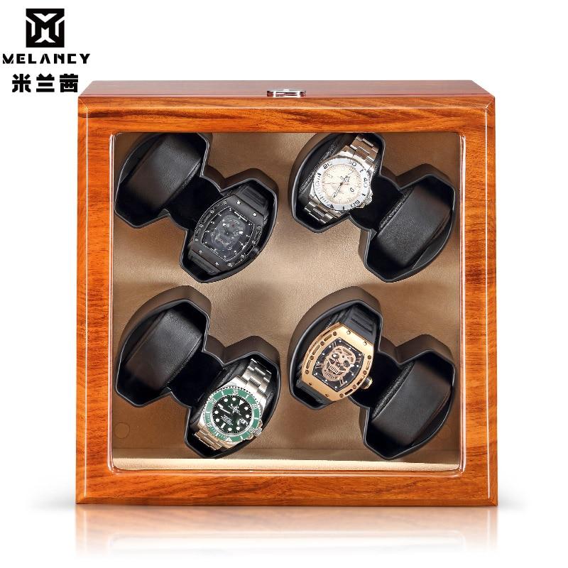 Wholesale soft flexible watch pillows automatic motor mabuchi storage watch winder safe box