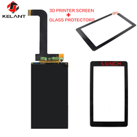 Kelant Photon LCD touch Screen + Glass Protectors 3d Printer Parts Accessories 5.5 inch Display Smart HD Shockproof 3D printers