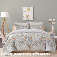 EHOMEBUY Modern Bedding Sets 10 Colors Reactive Printing Home Use 1 Quilt Cover With 2 Pillow