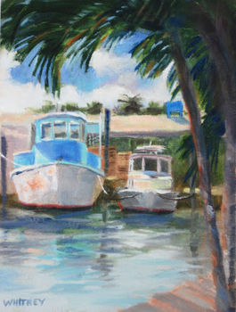 Sue Whitney Daily Painting A Day Small Oil Painting Florida Keys Marins