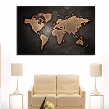 Canvas Painting Art Wall Pictures World Map Printed For Living Room Office Hotel Home Decor HD Poster