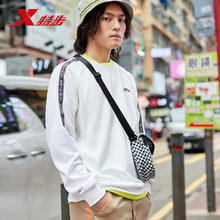 цена на Xtep men sports hoodies sweater autumn new casual sports round neck pullover long-sleeved sweater 881329059205