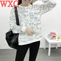 KPOP BTS Hoodies Bangtan Boys Clothes Long Sleeve Women Hoodies Korean Kim Tae Hyung Graffiti Sweatshirts WXC