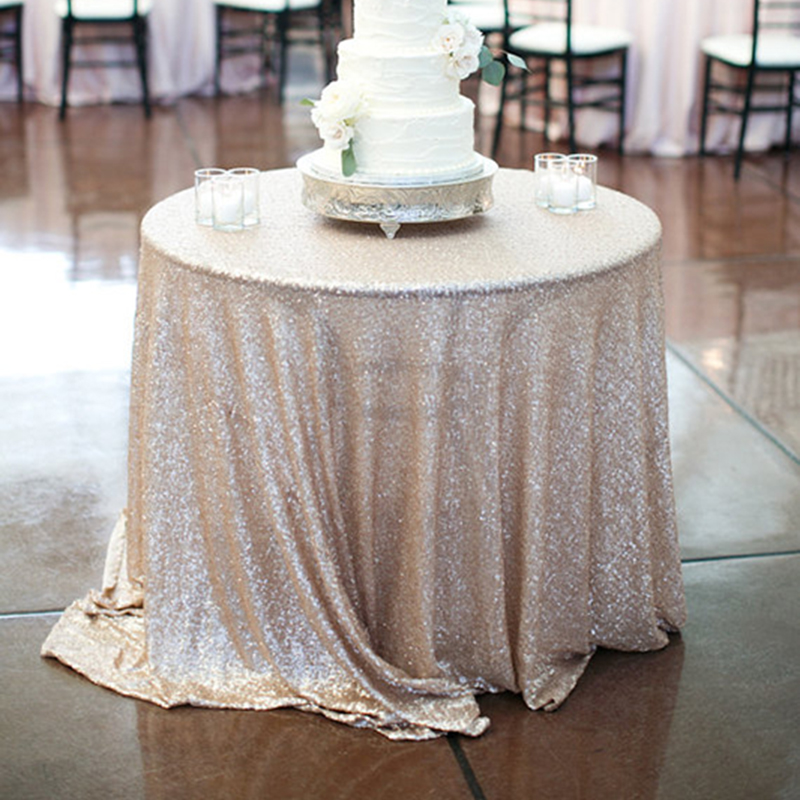 Perfect Sequin Tablecloth For Wedding Party Gold Silver Colorful Table Cloth  Decoration Bling 120cm For Cake Table Champagne Tower Decor In Tablecloths  From Home ...