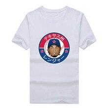 Texas Ranger star 11 Yu Darvish face Shirt summer T-Shirt 100% cotton  T Shirts Men for fans