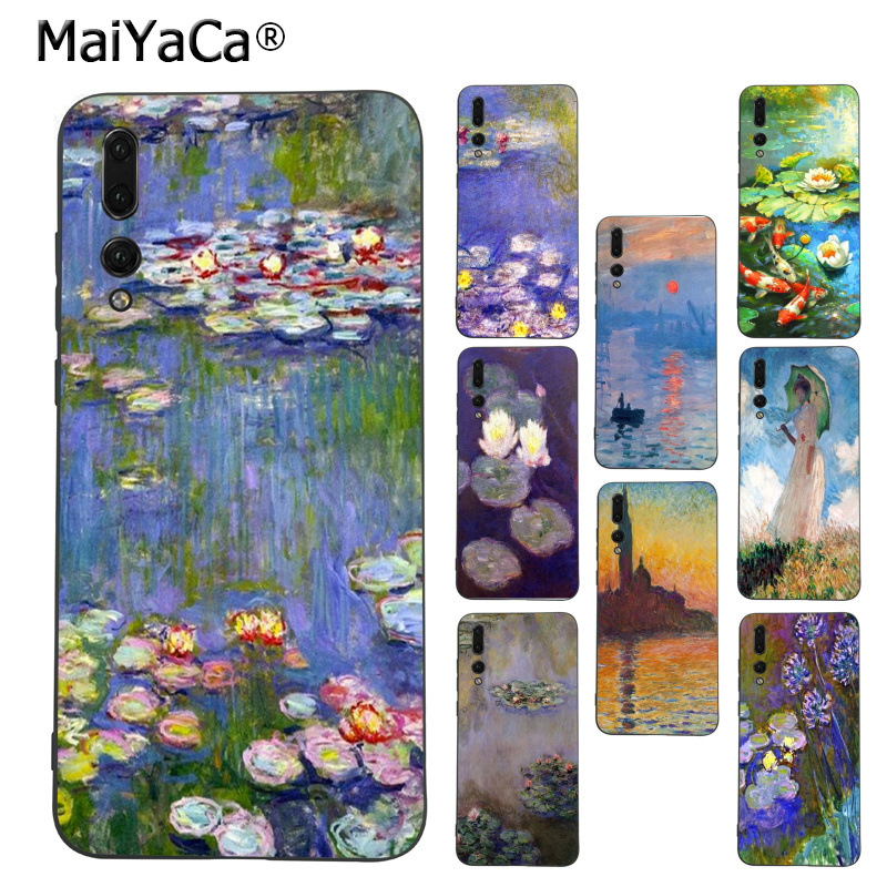 MaiYaCa Monet Garden Lotus River Sceneary Coque Phone case for Huawei Mate10 Lite P20 Pro P9 P10 Plus Mate9 10 Honor 10 View 10