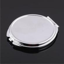 10 шт серебряное компактное зеркало круглое металлическое зеркало для нанесения макияжа рекламный подарок на Рождество