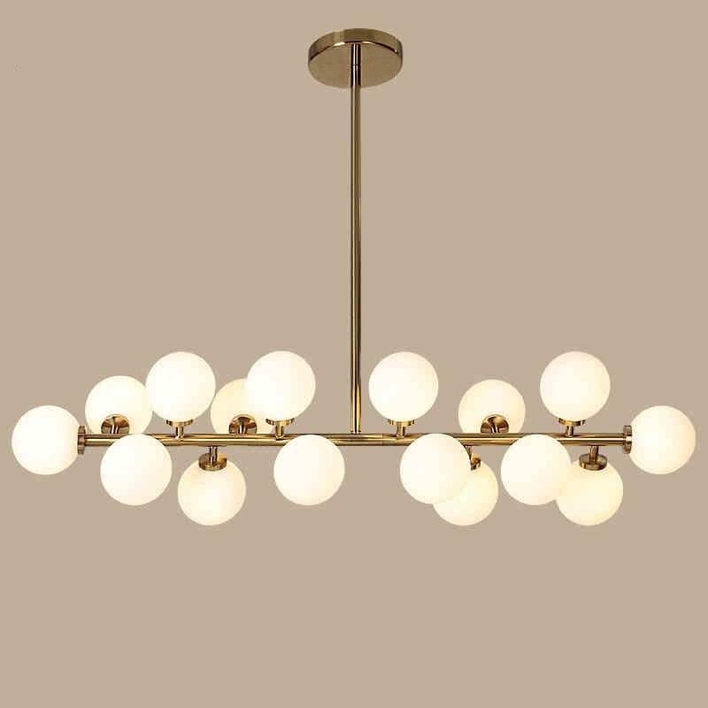 Lumières de pendentif LED de haricot magique d'or/noir pour diner la boule en verre industrielle de Loft Vintage accrochant la lampe pendante en verre rétro