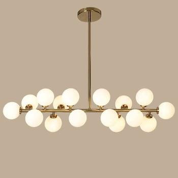 Oro/Nero Fagiolo Magico LED Lampade a sospensione per la sala da pranzo D'epoca Loft Industriale Palla di Vetro appeso Retrò Luce lampada a Sospensione in vetro