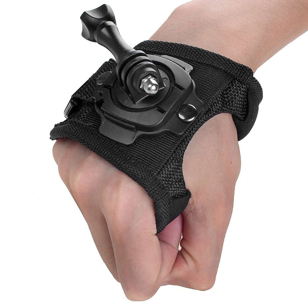 New 360 Degree Rotation Protection Hand Wrist Strap Mount Screw for Gopro Hero 4 SJ4000 Strip