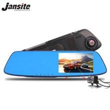 Jansite Видеорегистраторы для автомобилей Двойной объектив автомобиля Камера Full HD 1080 P видео Регистраторы Зеркало заднего вида с заднего вида DVR регистраторы Авто Регистратор
