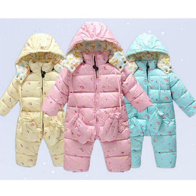 2016 Новая Зимняя девочка пальто duck down зимняя куртка мальчика Куртка пальто Утолщение snowsuit открытый теплое пальто девушки