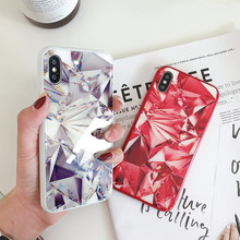 ZKFYS Diamond Glitter Hard Back Cover Soft Silicone Bumper For iPhone X Tempered Glass Case 7 6S 8 6 Plus Phone