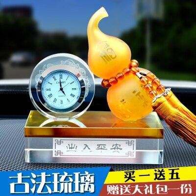 Automobile parfum stand verre horloge gourde parfum réglage créatif cristal ceinture montre voiture accessoire artisanat sculpture statues maison
