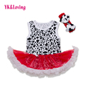 Wholesale Retail Baby Girls Dress  Infantile Brick Red Leopard Summer Girl Baby Dress Lace Ruffle Baby Clothing