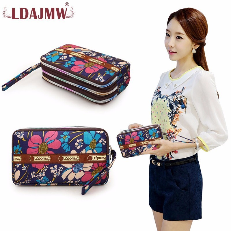 LDAJMW High Quality Fashion Girls Purse Card Holder Long Clutch Womens Wallets And Purses Mobile Phone Key Bags Handbags
