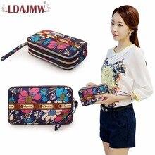 LDAJMW High Quality Fashion Girls Purse Card Holder Long Clutch Womens Wallets And Purses Mobile Phone Key Bags Handbags цена