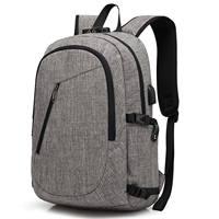 abay Men's Backpack Anti Theft Shoulder Bag Password Locks for Male USB Charging Travel Backpack & Headphone Plug Business