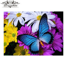 Diamond Embroidery flowers butterfly Painting Cross Stitch kits full Square mosaic home decor stickers
