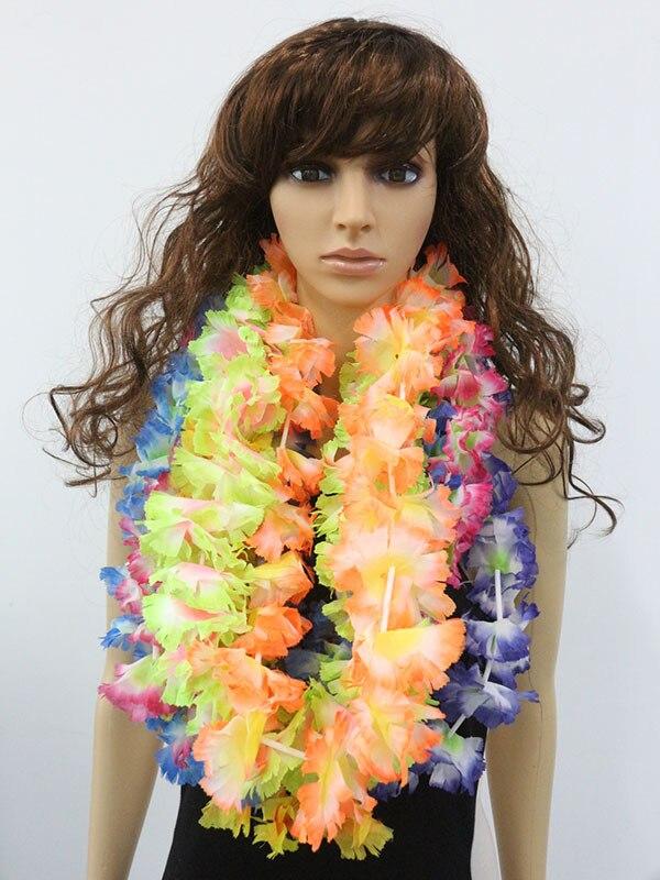 50 pcs Hawaiian Flower Leis Artificial Flowers Wreath Party Decoration Wedding Decor Birthday Party Christmas Supplies HH0004