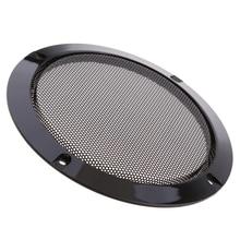 """1 個 3 """"黒オーディオスピーカーカバー装飾サークル金属メッシュグリル DIY スピーカー車のスピーカーアクセサリー"""
