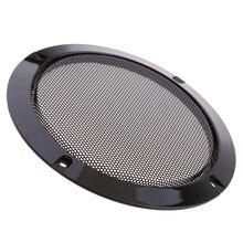 "1 pçs 3 ""capa de alto falante de áudio preto círculo decorativo malha metal grade diy alto falante grade círculo acessório do carro"